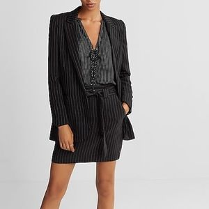 EXPRESS Pin-Striped Blazer
